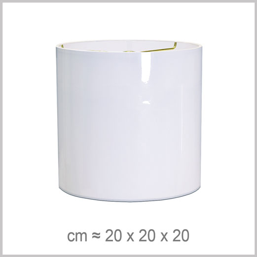 Small Cylinder shaped lampshade with an American spider fitter for harps