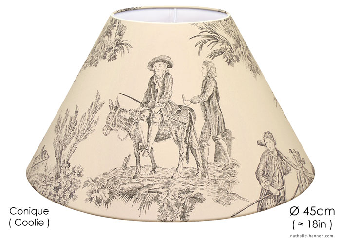 Lampshade Toile Chasse