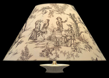 Lampshades Toile Village