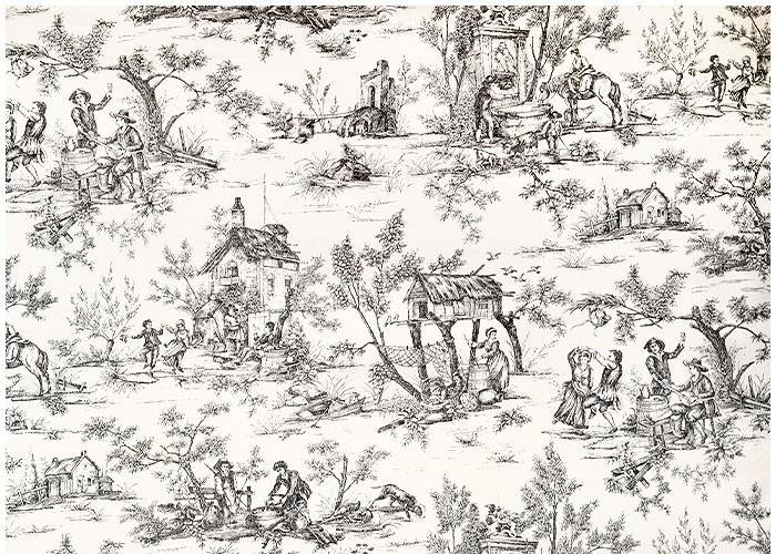 Lampshade Toile Village