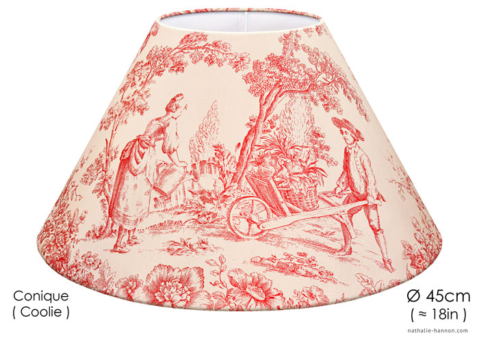 Lampshade Toile Campagne Rose