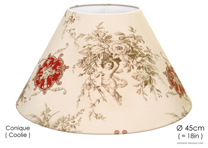 Lampshade Toile Bucolique Anges