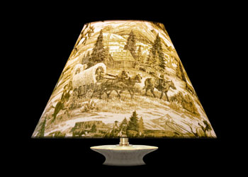 Lampshades Far West Toile