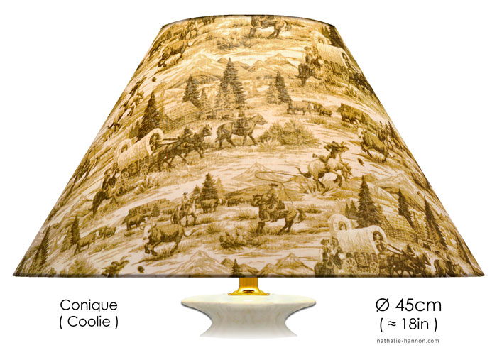 Lampshade Far West Toile