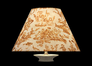 Lampshades Golden Brown Toile