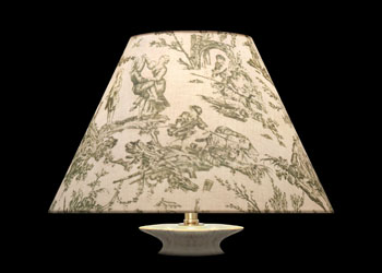 Lampshades SeaGreen Toile