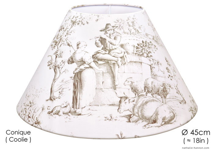 Lampshade Toile Campagne Blanc