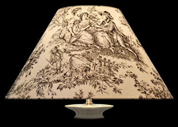 Lampshades Black Toile
