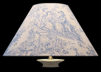 Lampshades Blue Toile