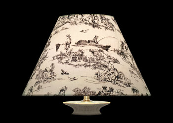 Lampshades Small Ivory Toile
