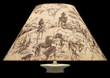 Lampshades Texas Etching Toile