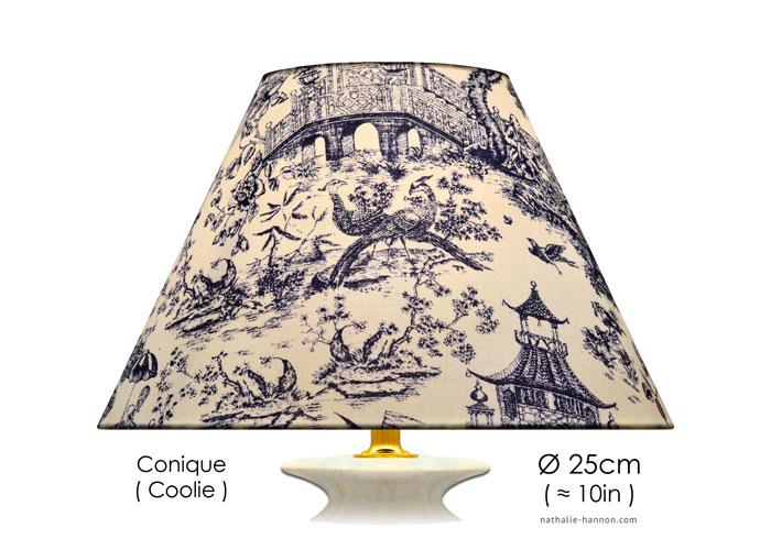 Lampshade Toile Jardin Asiatique
