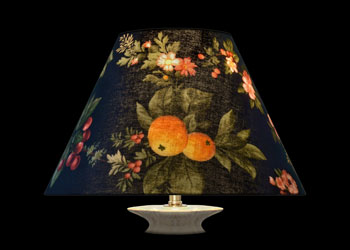 Lampshades Garden Fruits on Black
