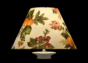 Lampshades Garden Fruits on White