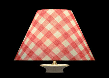 Lampshades Carreaux Rose