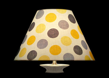 Lampshades Gray Yellow Dots
