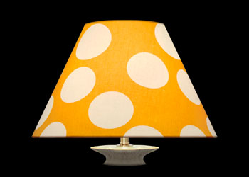 Lampshades Large White Dots