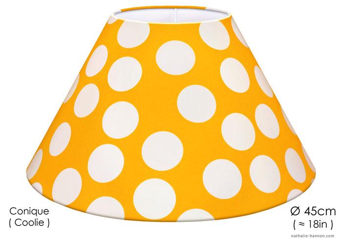 Abat-jour Large White Dots