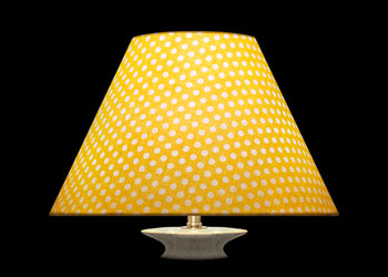 Lampshades Petits Pois Blanc