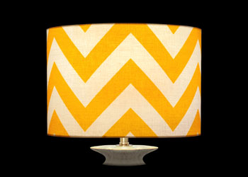 Lampshades Yellow Chevron