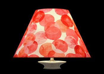 Lampshades Peach Circles