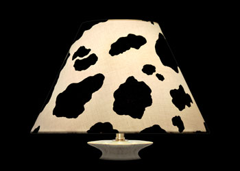 Lampshades Cow Spots