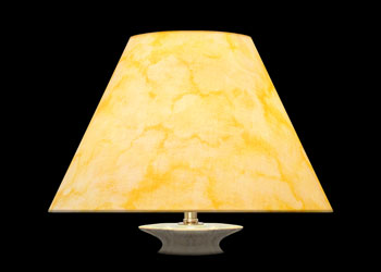 Lampshades Yellow Marble