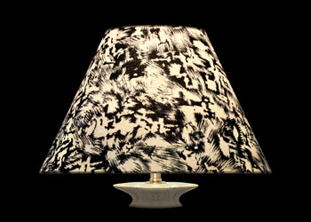 Lampshades Abstract Noir et Blanc