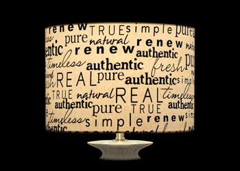 Abat-jour Mots Authentiques