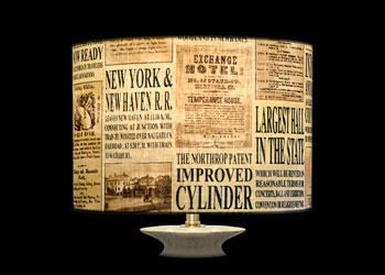 Abat-jour Old News Prints
