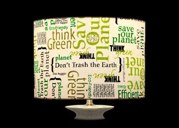 Abat-jour Sauvons la Planète