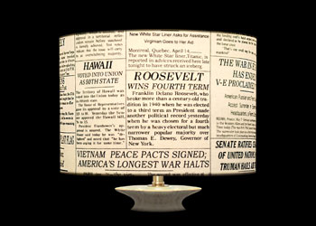 Lampshades News Prints