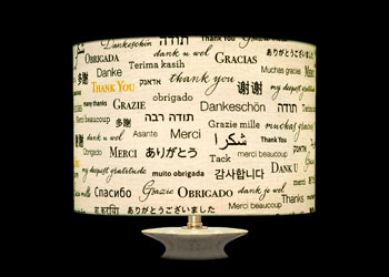 Lampshades Merci - Thank you