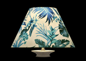 Lampshades Blue Foliage Paradise