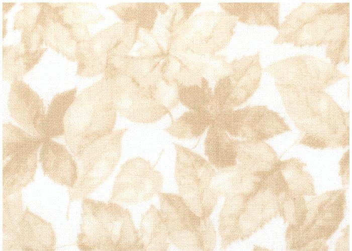 Abat-jour Beige Leaves on White