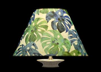 Lampshades Feuillage Tropical Bleu Vert