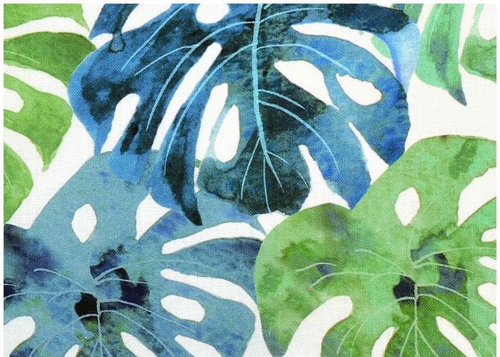 Abat-jour Feuillage Tropical Bleu Vert