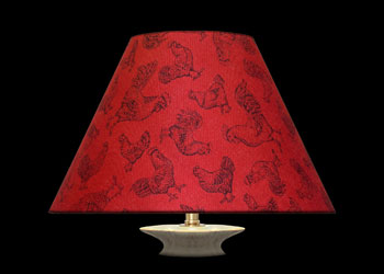 Lampshades Roosters