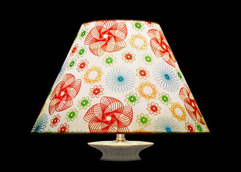 Lampshades Spiral Drawings