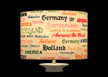 Lampshades Countries in Writings