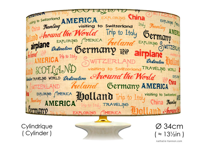 Abat-jour Countries in Writings