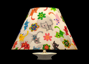Lampshades Kittens and Flowers